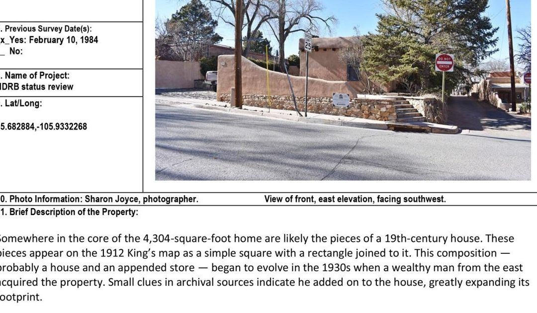 Property surveys bright with history | Home/  | santafenewmexican.com –   New Mexican